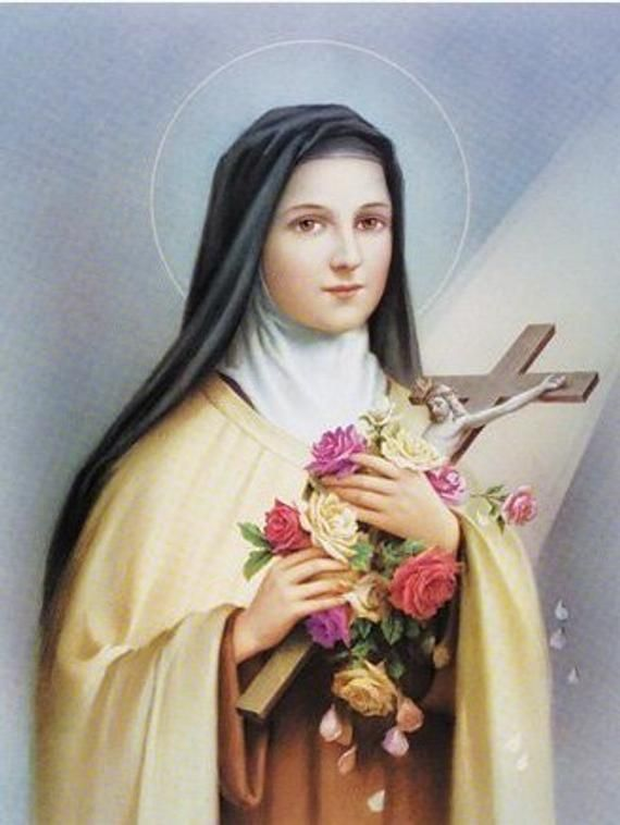 Saint Therese 8 X 10 Art Print Catholic Vintage Etsy St Therese Of Lisieux St Therese De Lisieux Therese Of Lisieux
