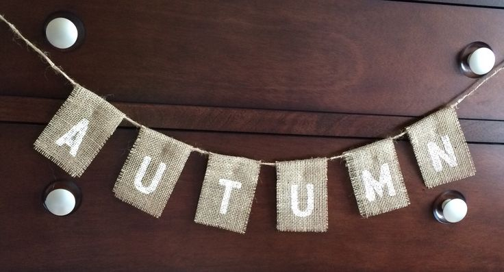 autumn home decor burlap banner by sewgoshdarncute on etsy rustic farmhouse entryway table by modernrefinement on