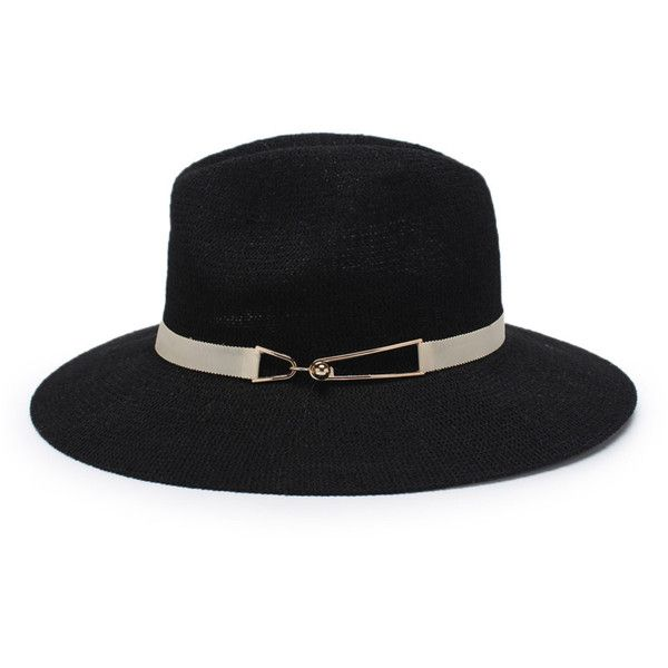 Straw Fedora Hat ($4.99) ❤ liked on Polyvore featuring accessories, hats, straw fedora hat, straw hat, fedora hat and straw fedora