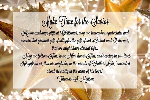 December 2016 HT: Make Time for the Savior