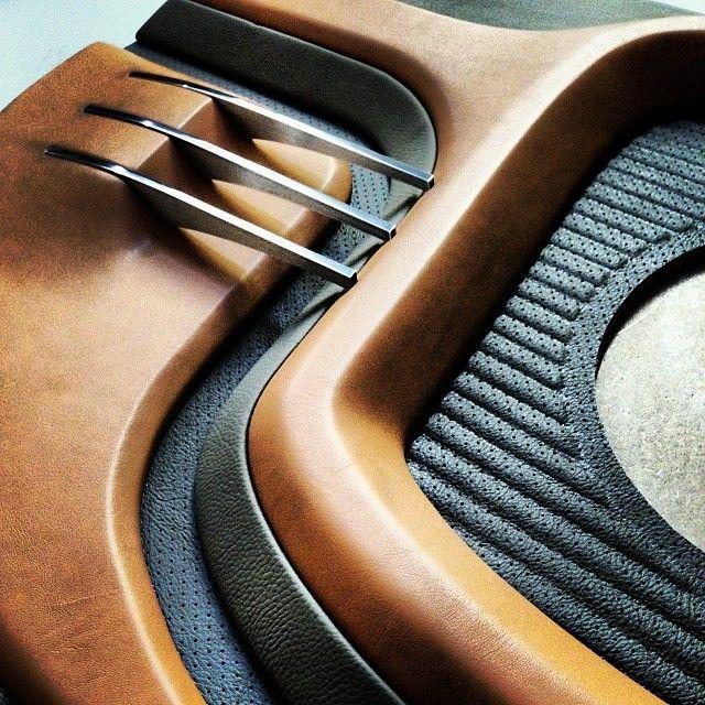 car audio interior design industrial design id display aluminum mdf leather
