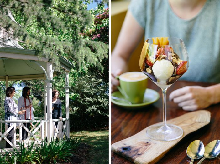 The lovely gazebo and a tantalising dessert at Flemish Flavours. Advertising Photography by Evangeline Aguas