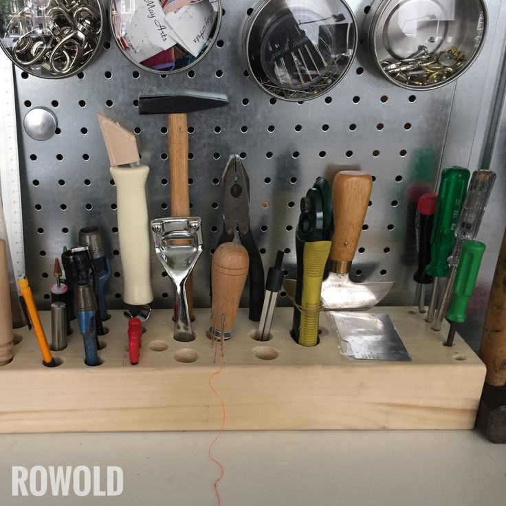 Leather Wall Equipment Holder: DIY Wooden Hand Tool Block, For Our Leather Hand Tools