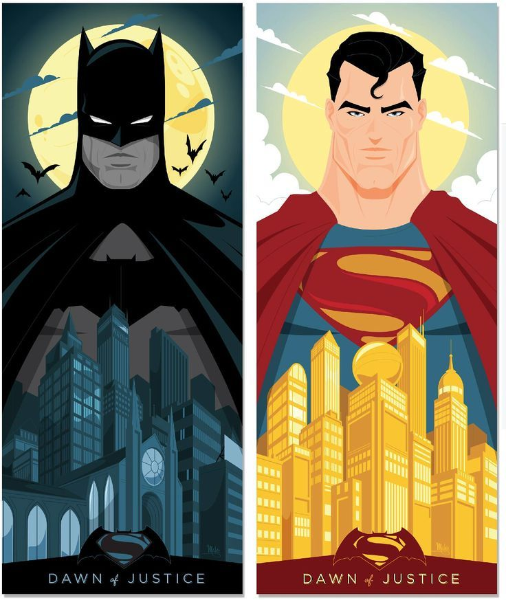 """by Mike Mahle. Tribute To Zach Snyder's """"Batman V Superman: Dawn Of Justice"""" by Creator Poster Posse"""