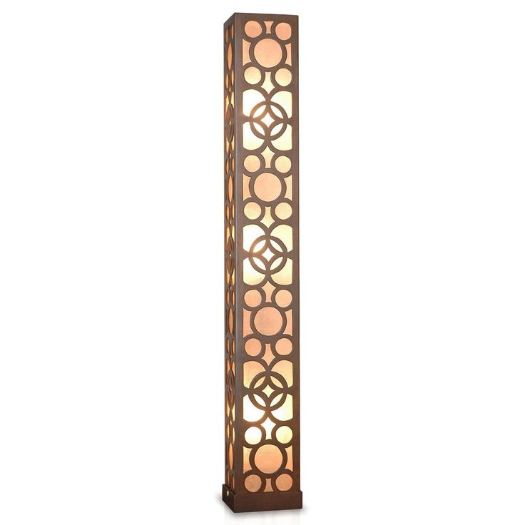 Crafted Home Decorative Amoret Geometric Transitional Floor Lamp