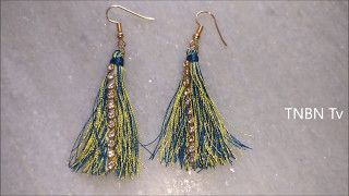 Image result for how to make tassel earrings with thread