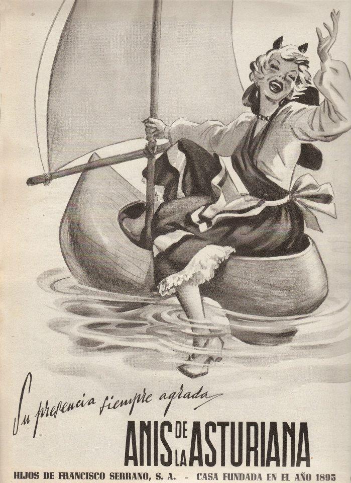 Anis de la Asturiana. Su presencia siempre agrada. 1958