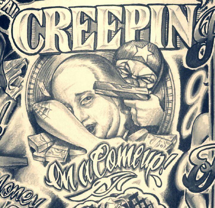 Gangster Hood Neck Tattoo Http Viraltattoo Net Gangster Hood Neck Tattoo Html In 2020 Prison Art Money Tattoo Gangsta Tattoos