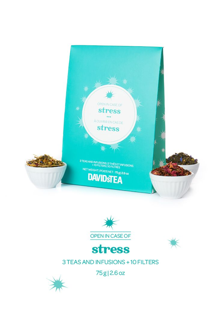 A collection of three soothing teas to help you unwind.