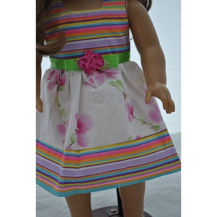 Multi Coloured Dress for 46cm Dolls Including the American Girl Line (Shoes Not | eBay
