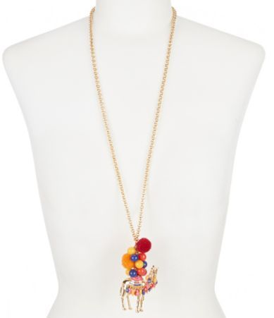 kate spade new york Spice Things Up Camel Pendant Necklace | Dillards