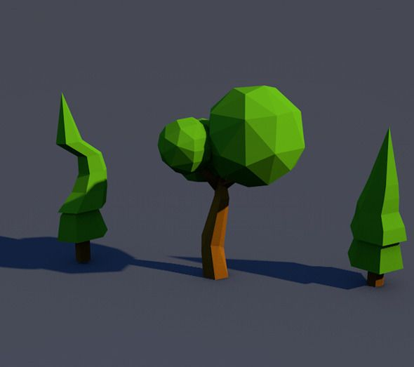 low poly fruits tree - Google Search