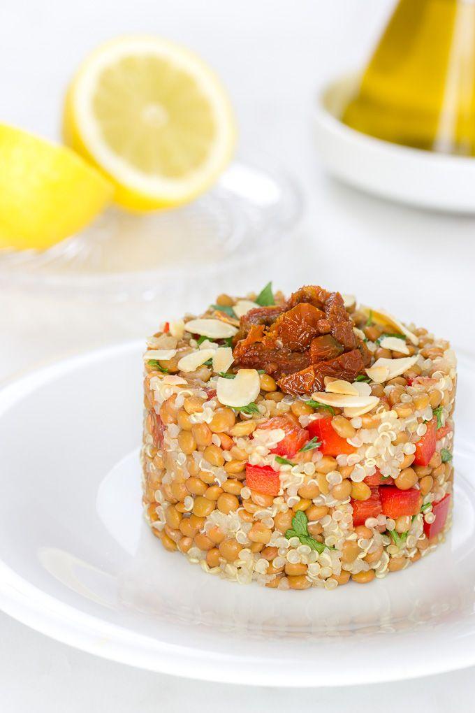 Ensalada de lentejas y quinoa   Delantal de Alces