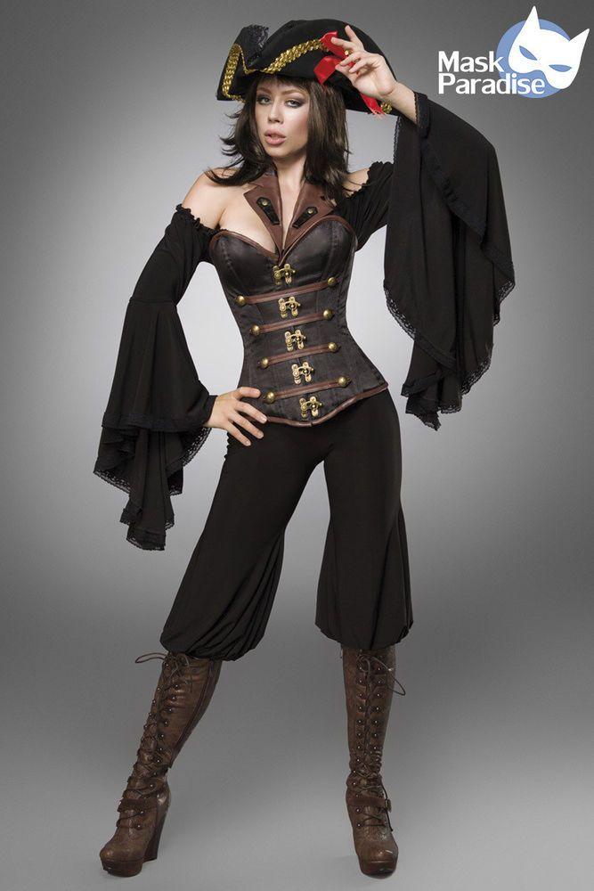 Piraten Kost 252 M Female Gothic Fasching Karneval Damen