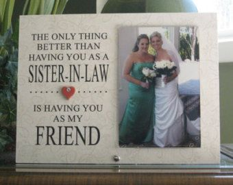 Wedding Gift For Sister In Law : SISTER-IN-LAW Gift Sister-In-Law Frame by ADawnDesignCreation