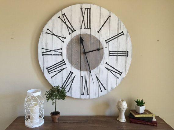36 INCH Rustic Farmhouse Wall Clock