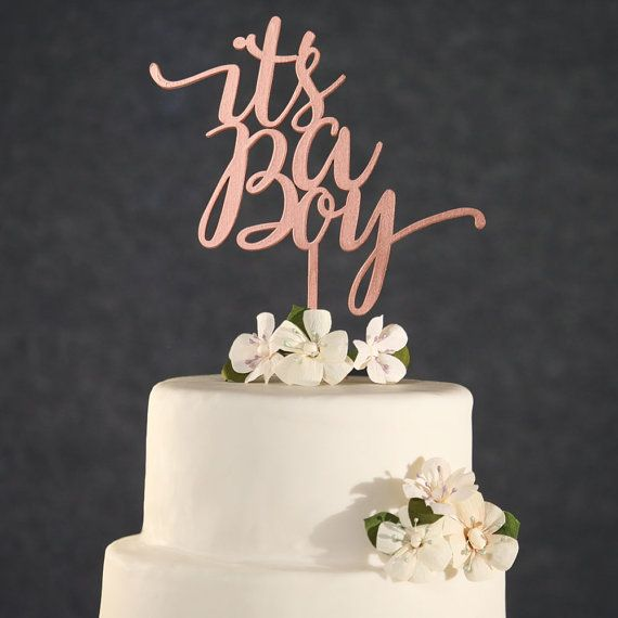 Baby Shower Cake Topper - Rose Gold It's A Boy Cake Topper - Rose Gold Baby Shower Cake Topper- Baby Shower Cake Topper Boy