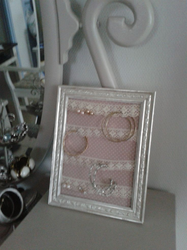 self-made earring rack (own photo)