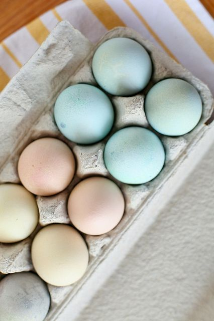 Natural Easter Egg Dyes using foods from around the house. Safe and chemical free! Plus the pretty pastels are perfect for spring.