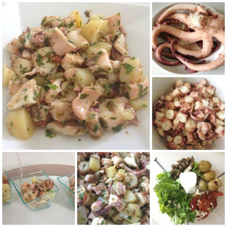 Insalata di polpo e patate - Octopus and potatoes salad with herbs