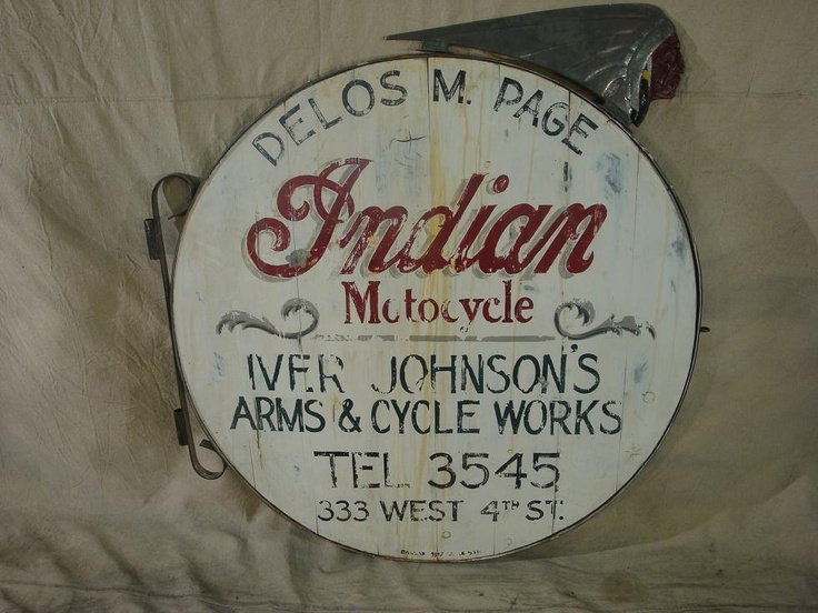 indian motorcycles pictures | Indian Motorcycle Dealer Sign - MidAmerica Auctions