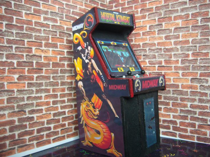 MORTAL KOMBAT ~  Miniature Arcade Machine Model - 1/12th Scale by 33Games on Etsy