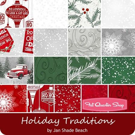 Holiday Traditions by Jan Shade Beach for Henry Glass Fabrics - May 2016