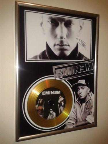 EMINEM-SIGNED-FRAMED-GOLD-VINYL-RECORD-CD-PHOTO-DISPLAY-slim-shady-lp-0-0