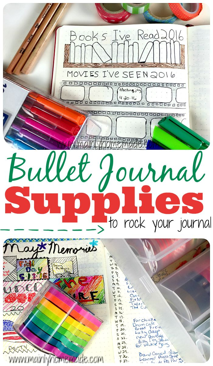 The best bullet journal supplies I recommend to organize your journal. My favorite pens, markers and tools for the best journal ever.