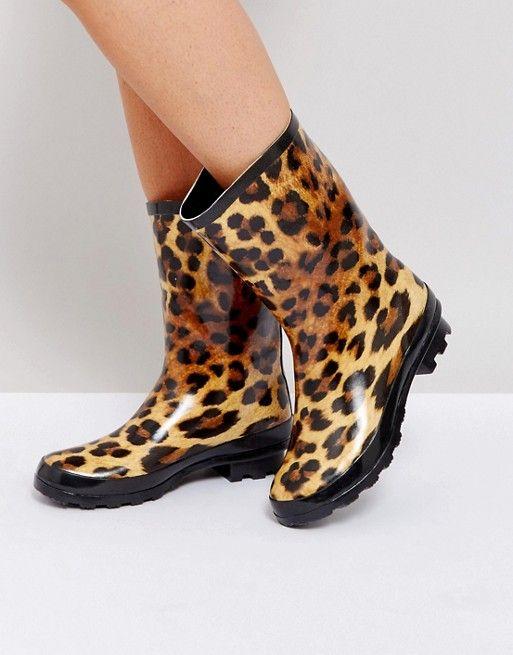 ASOS GAZELLE Leopard Wellies