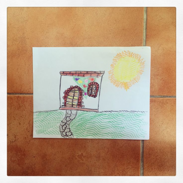 Colonial House-Paper and Crayola colors (9yrs. old)