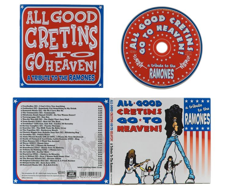 RAMONES Tribute, artwork, CD, All good cretins... | Peter Möller