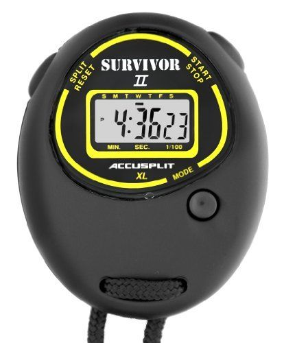 ACCUSPLIT Survivor II - S2XL Stopwatch, Clock by ACCUSPLIT. ACCUSPLIT Survivor II S2XL Stopwatch, Clock (Black). Various.