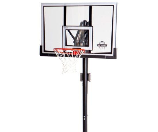 lifetime inground basketball hoop 52in backboard - In Ground Basketball Hoop