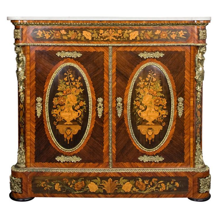 Delightful Chest With Two Doors Marquetry. Italian FurnitureAntique ...