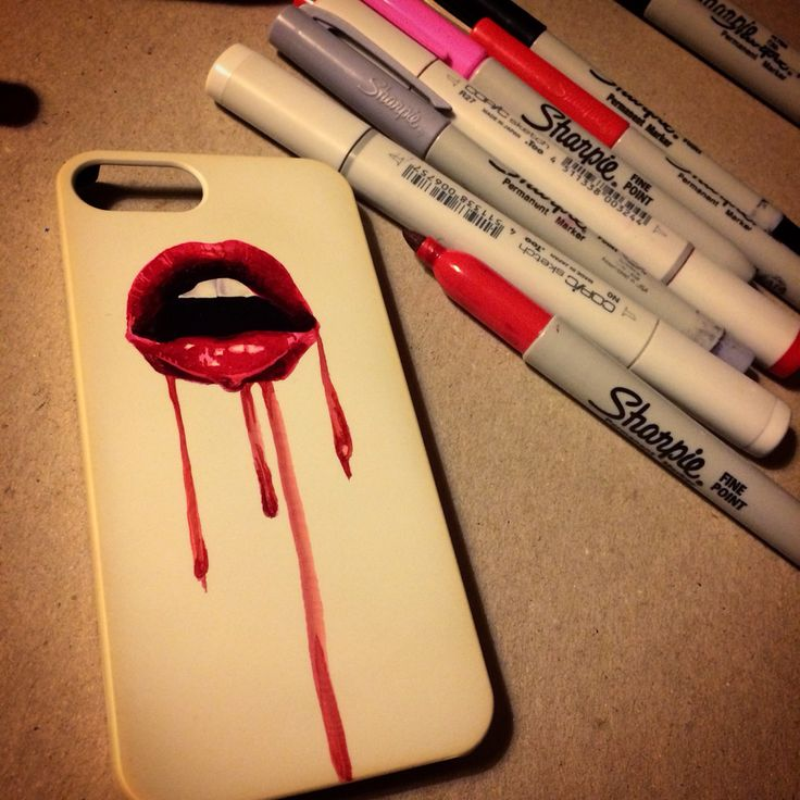 Diy sharpie phone case I designed and sold :]