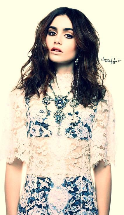 Lily Collins.. Looked her up because I have been seeing her everywhere. So Gorgeous!