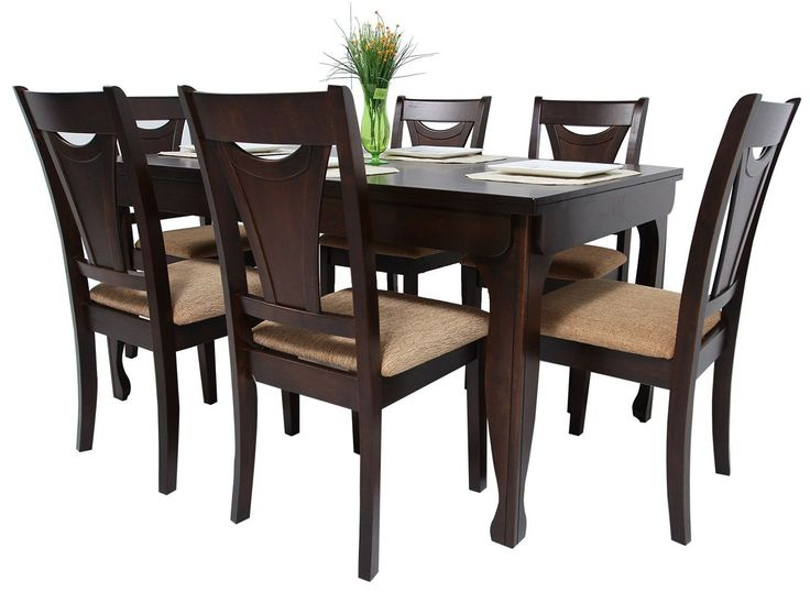 Modelos de sillas de madera para comedor for Juego de comedor de madera de 6 sillas