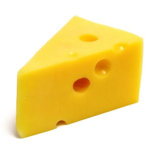 Cheese is yellow