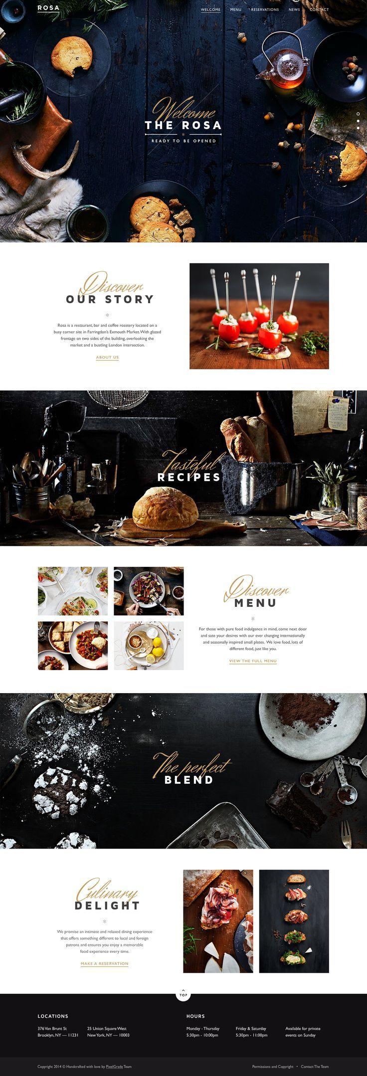 The 25+ best Restaurant website design ideas on Pinterest ...
