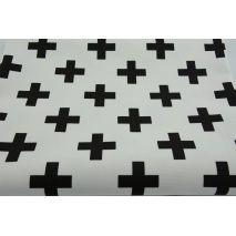 HD czarne krzyżyki, plusiki na białym tle - HOME DECOR