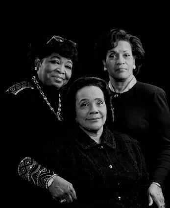 DR SHABAZZ, CORETTA SCOTT KING, and MERLIE EVERS