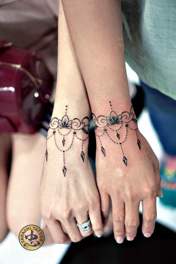 Pretty Mandala Tattoo Mandala Wrist Tattoo Tattoos Cuff Tattoo
