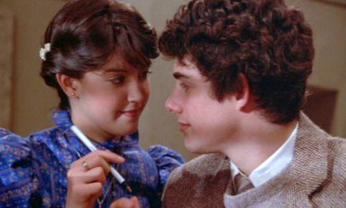 """Phoebe Cates, Zach Galligan.in """"Gremlins"""" 1984"""
