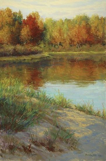 Autumns Beauty by Kathleen Kalinowski Pastel ~ 18 x 12