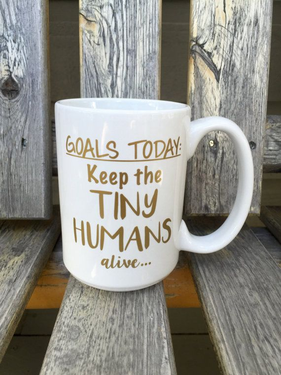 Keep the tiny humans alive custom 15 oz coffee by RoamFreeDesignCo   #doingoodcontest