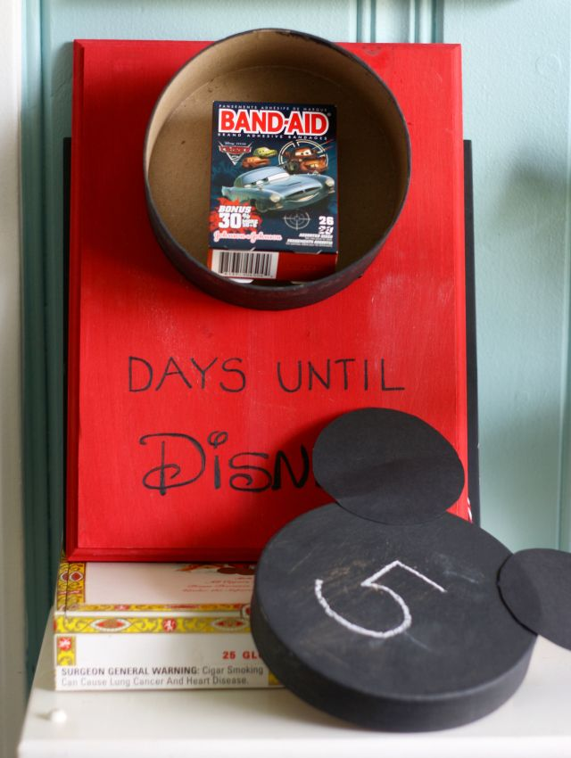 DIY Disney Countdown Calendar. Fill with Disney-themed surprises for each day of the countdown!