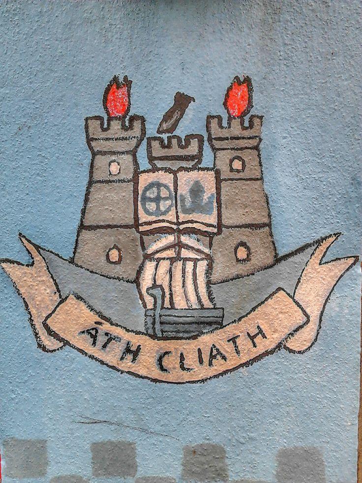 Dublin Gaa crest painted on a wall, Dublin.