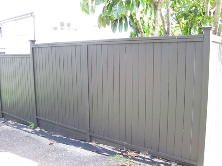 Wooden Timber Shiplap Fence With Flat Top Built By