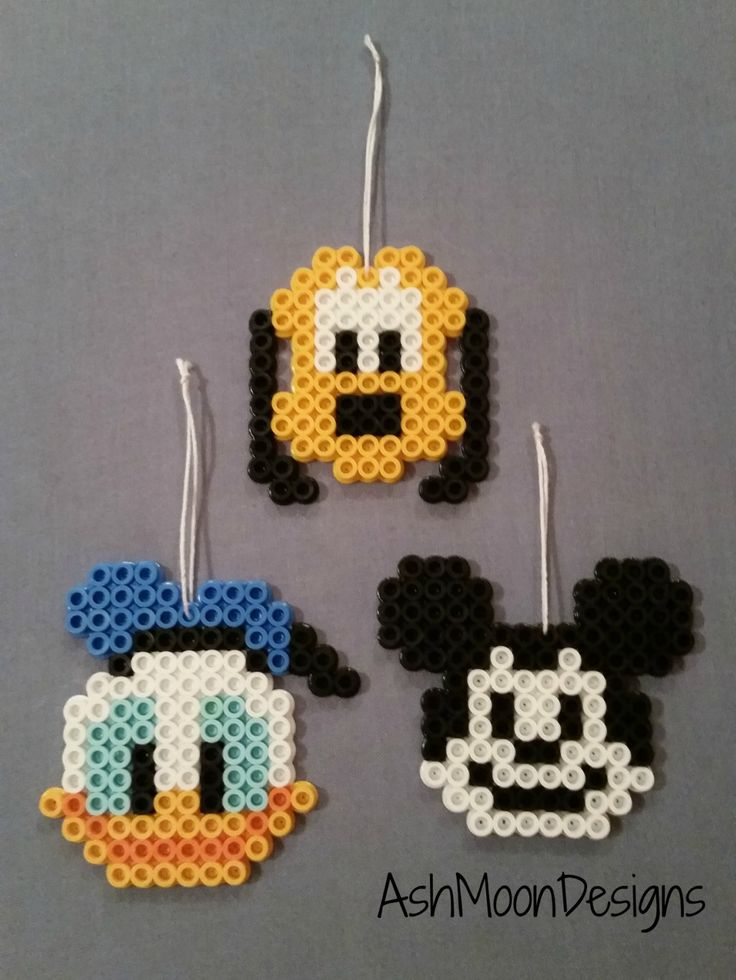 Disney Character Perler Ornaments & Magnets por AshMoonDesigns